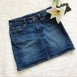 GAP Denim Mini Skirt Blue Jean size 25 or Size 1